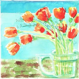 Patio Tulips