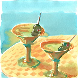 Martinis on the patio